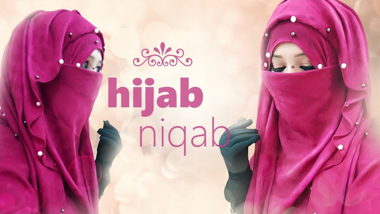 c6a85bd3245ff Full Chest Back Shoulder Covered Hijab With Niqab Tutorial | Very Simple  Shawl Tutorial | NiqaBee