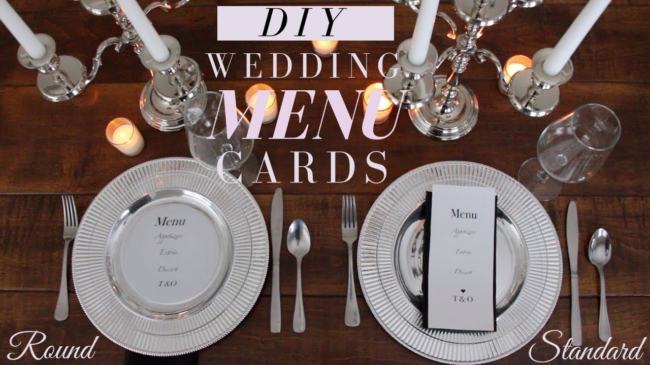 DIY Wedding Menu Cards | Make Your Own Wedding Menu Cards, and SAVE ...