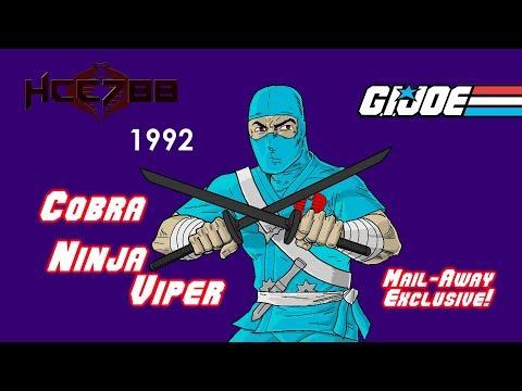 HCC788 - 1992 COBRA NINJA VIPER! Vintage G.I. Joe toy review!