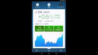 『世界の株価』 for Android デモ