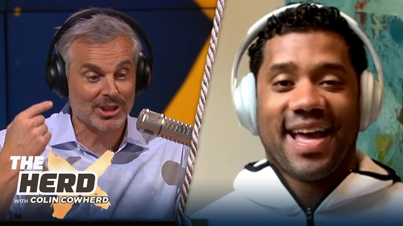 Russell Wilson on playing Tom Brady in Super Bowl, Seahawks' career, future in NFL | NFL | THE HERD - The Herd with Colin Cowherd