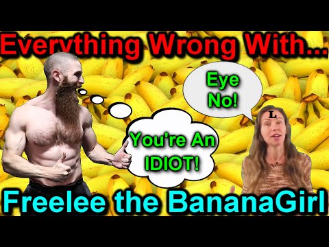 EVERYTHING WRONG WITH FREELEE THE BANANA GIRL! Amenorrhea is a GOOD Thing and You NEED MORE SUGAR???