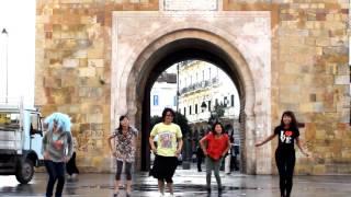 【JPN♥TNS海外Tunisiaتونس★】Happy Synthesizer★踊ってみたDance cover@Tunisia,Tunis City(Porte de France)