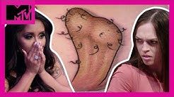 This 'Ballsy' Tattoo Is Petty As Hell 😨 | How Far Is Tattoo Far? | MTV
