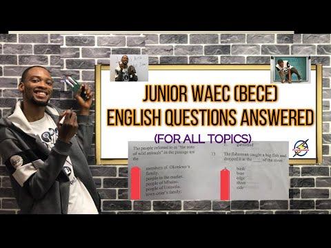 Junior Waec 2021: BECE English Questions & Answers