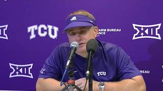TCU HC Gary Patterson Discusses loss to Texas