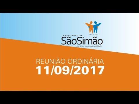 REUNIAO ORDINARIA 11/09/2017