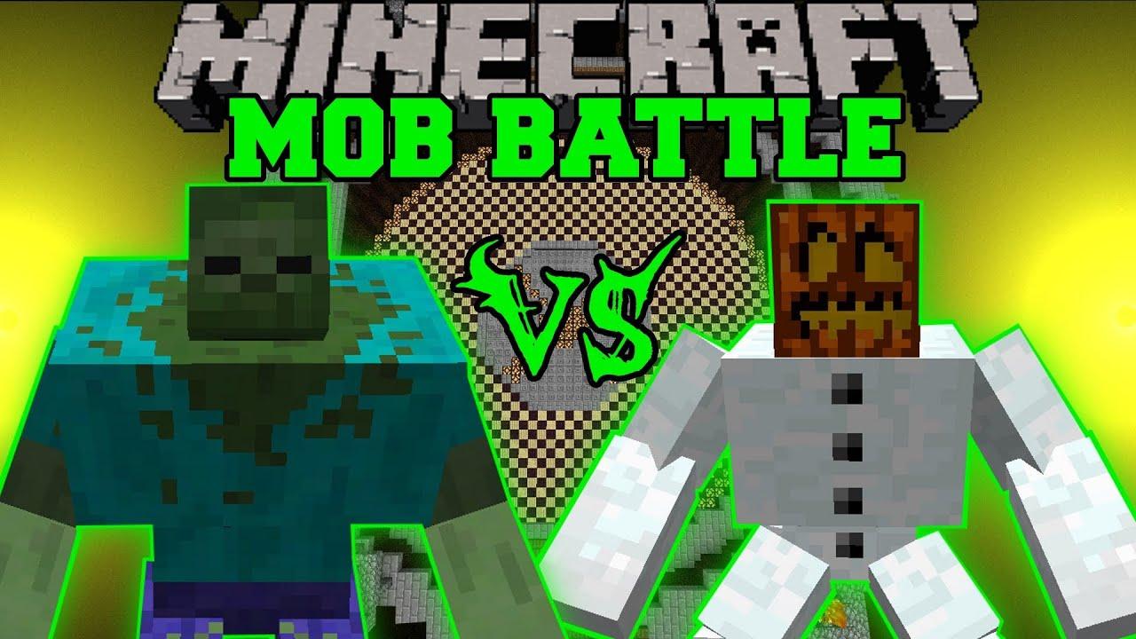 Mutant Snow Golem Vs Mutant Zombie Minecraft Mob Battles