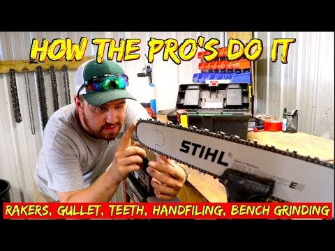 How the Pros sharpen a chainsaw