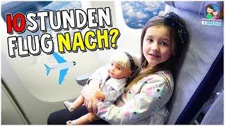 10 Stunden Flug! Ava fliegt nach Amerika 🇺🇸  ✈️ Geschichten und Spielzeug