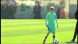 Justin Bieber plays Soccer with FC Barcelona - In Spain While On My World Tour