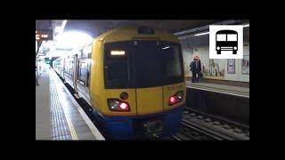 British Rail Class 378 Capitalstar - Departing Shadwell Station (London Overground)