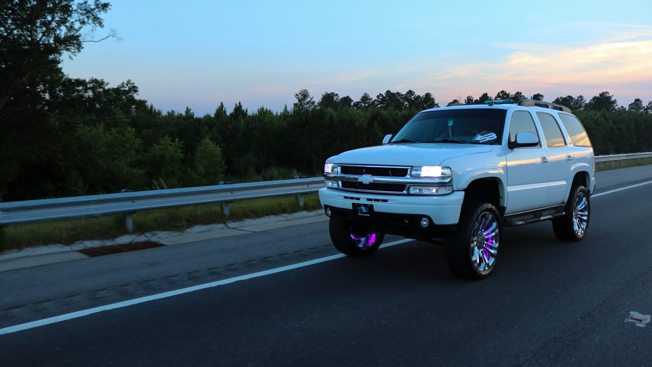 Lifted Chevy Silverado >> 03 TAHOE ON 24's! - YouTube