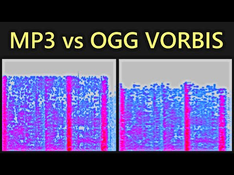 MP3 vs Ogg Vorbis Compression - Visual Comparison