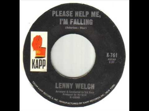 Lenny Welch Please Help Me I'm Falling