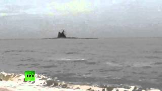 В Азовском море произошло извержение вулкана(В распоряжение RT попало видео, снятое Анастасией Мироновой, на котором запечатлено извержение вулкана..., 2015-10-27T12:16:30.000Z)