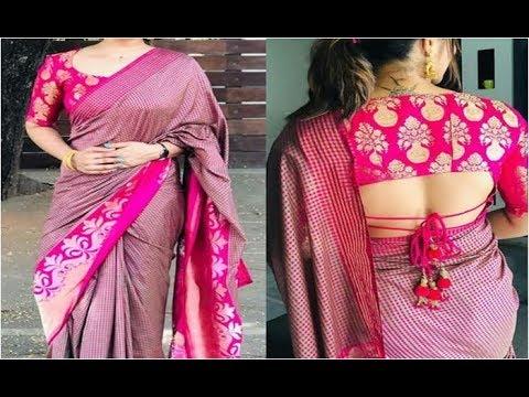 new-saree-blouse-designs-2019- -latest-blouses-neck-design-catalogue