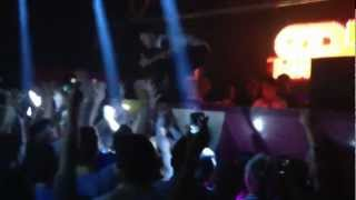 Eddie Halliwell stage dive / crowd surf @ cream Liverpool march 2013, crowd robs his socks and shoes Thumbnail