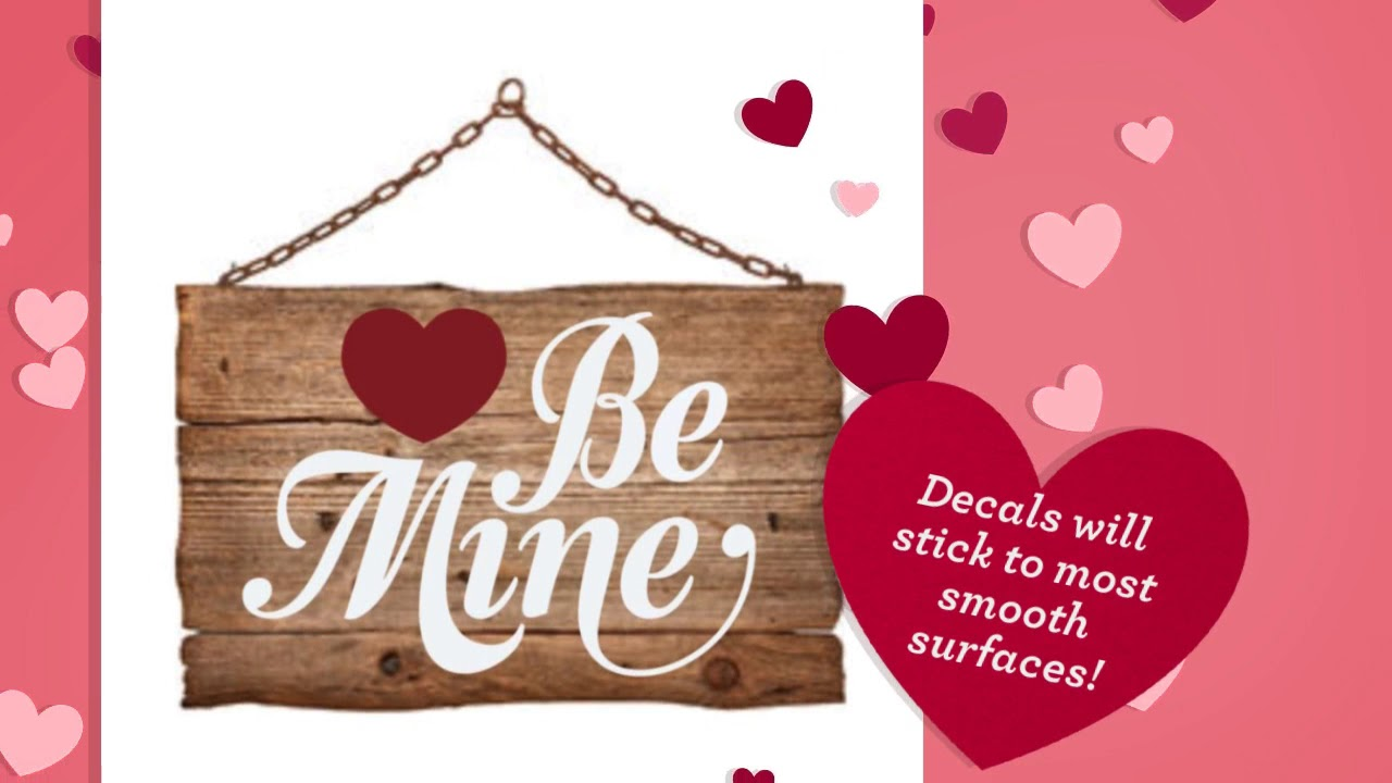 Valentine S Day Gift Ideas Using Vinyl Wall Decals By The Simple
