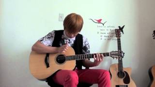sungmin lee antoine dufour catching the light acoustic fingerstyle guitar cover