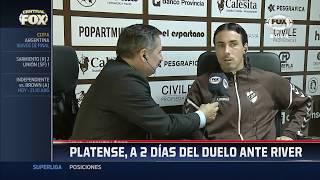 Entrevista a Daniel Vega | Previa de Platense - River en Fox Sports