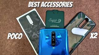 Best Accessories For Poco X2 || cover,screen guard,skin ||