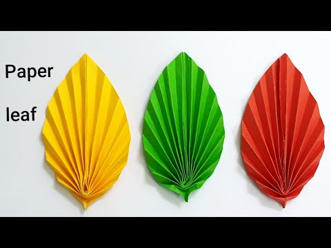 How to make Beautiful paper leaf, easy paper DIY crafts