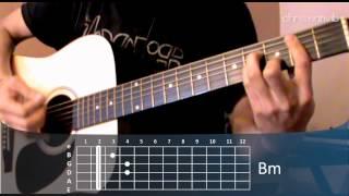"""Cómo tocar """"Te quiero"""" de Hombres G en guitarra acústica acordes (HD) Tutorial - Christianvib"""