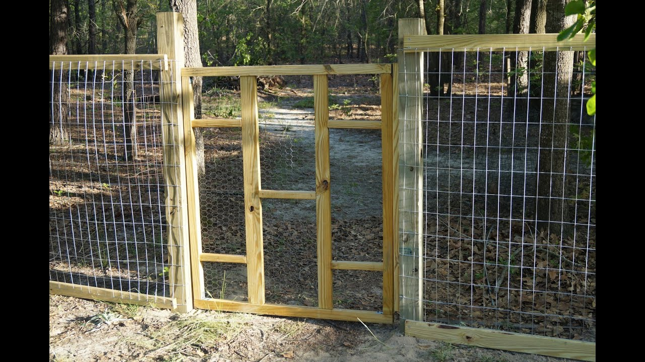 build a garden gate for less than $10 youtube