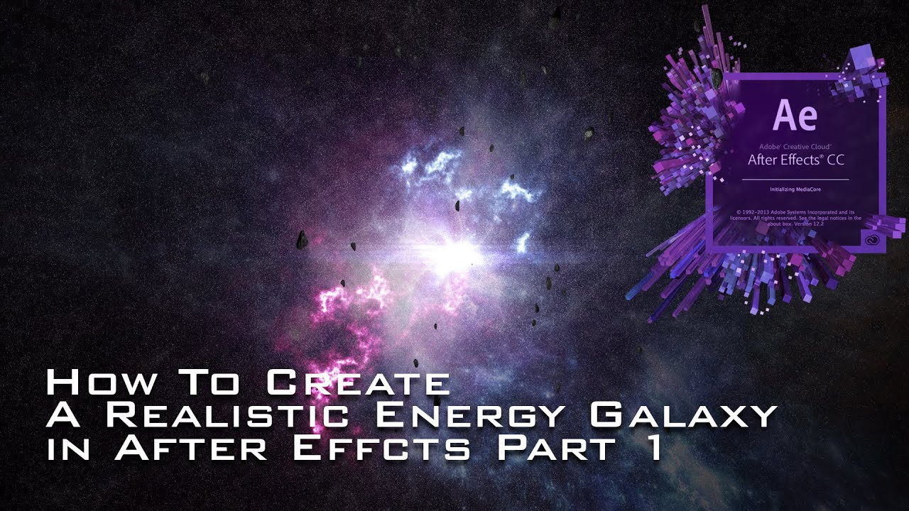 How to create a realistic energy galaxy in after effects for After effects lyric video template