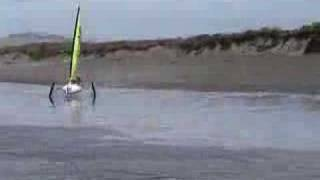 Land Sailing in a storm