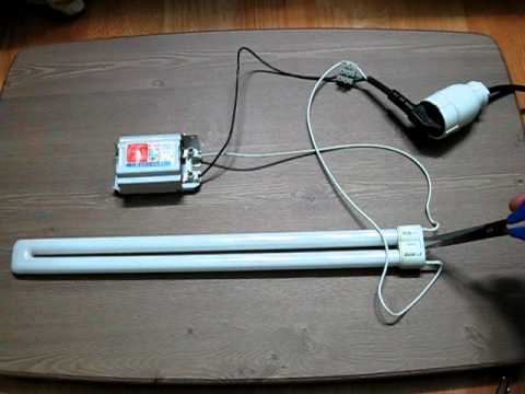Turn On Fluorescent Light Without Starter Lamp Youtube