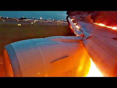 Горит самолет при