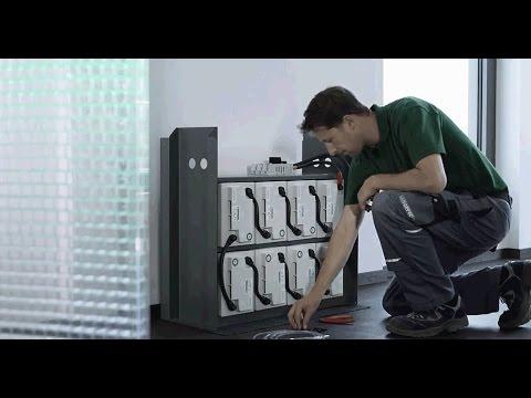 HOPPECKE Batterien - Installaton video sun|power pack classic (October 2015)
