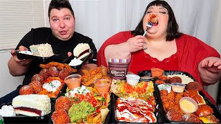 Massive Cheesecake Factory Feast with Hungry Fat Chick • MUKBANG