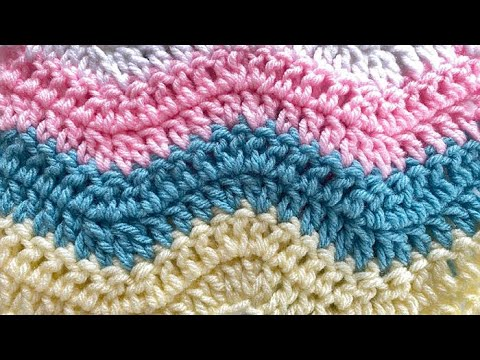 How To Crochet An Afghan: Lazy Wave Afghan