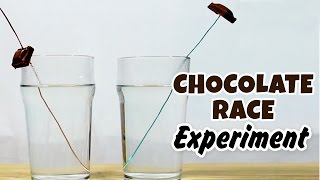 Science Experiments That You Can Do At Home - Chocolate Race Science Experiment