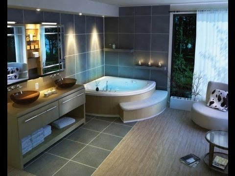 Modern bathroom design ideas from bathroomdesign-ideas.com - YouTube