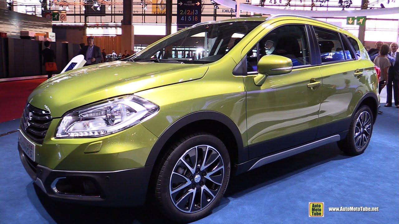 2015 suzuki sx4 s cross all grip exterior and interior walkaround 2014 paris auto show youtube