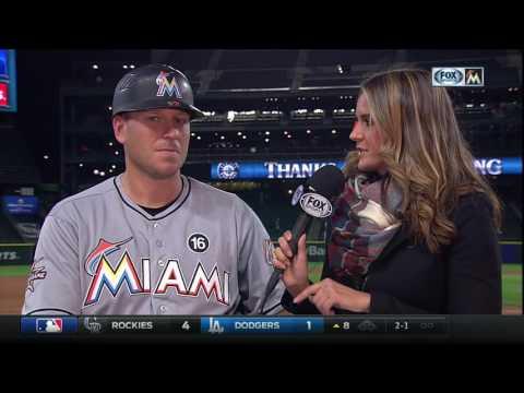A.J. Ellis -- Miami Marlins at Seattle Mariners 04/18/2017