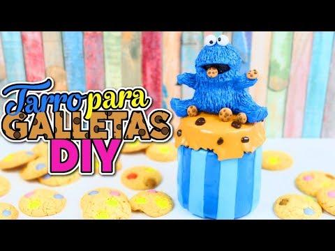 IDEAS Y MANUALIDADES PARA DECORAR - Tarro para guardar galletas DIY Cookie Monster