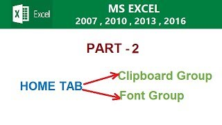 MS EXCEL 2016 TUTORIAL IN HINDI PART - 2 BY COMPUTER WORLD TIPS AND TRICKS IN HINDI..