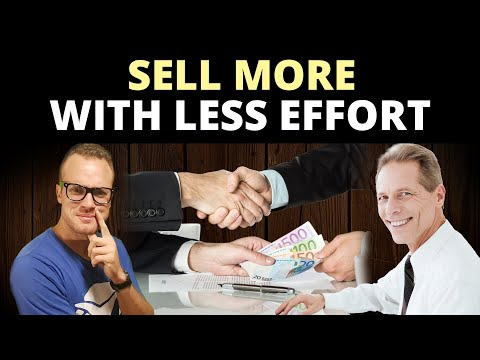 How to Sell Your Services or Products With Less Effort