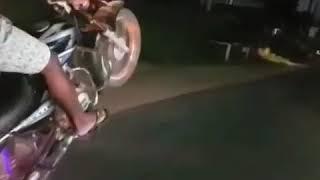 Akash Prabha Jayanayaka ct100 wheelie Spin Riders Club