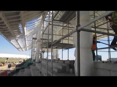 türkmenistan aşkabat olimpiyat stadı perforje saç kaplama - RECEP UZUNTARLA