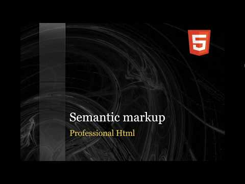 html tutorial for beginners - semantic markup