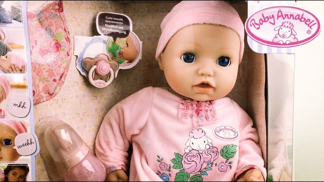 NEW Baby Annabell Doll Unboxing and Play - YouTube