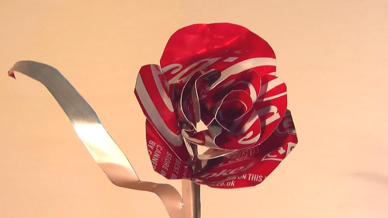How to Make Coke Can Rose - Valentines Day Gift - YouTube
