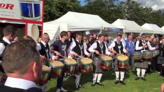 Boghall & Bathgate Caledonia Pipe Band Drum Fanfare - 2015 World Pipe Band Championships