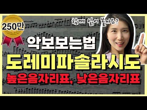 [악보보는법]도레미파솔라시도♬ 함께읽어요